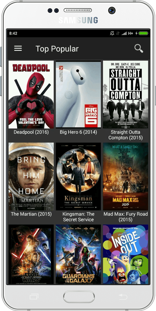 mobile screenshot of application cinemabox